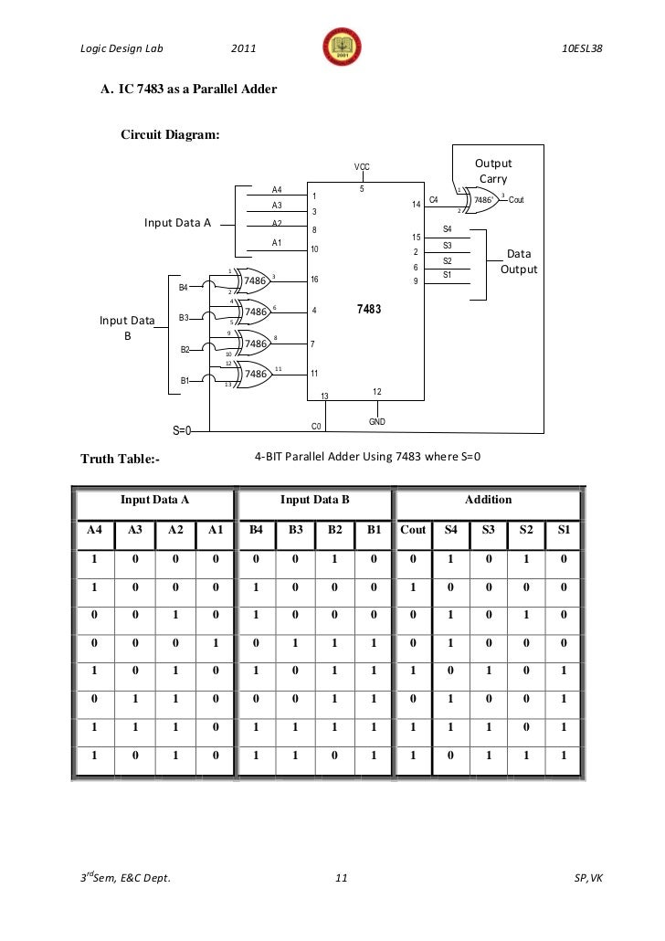 logic diagram of ic 7447 logic diagram of ic 7483