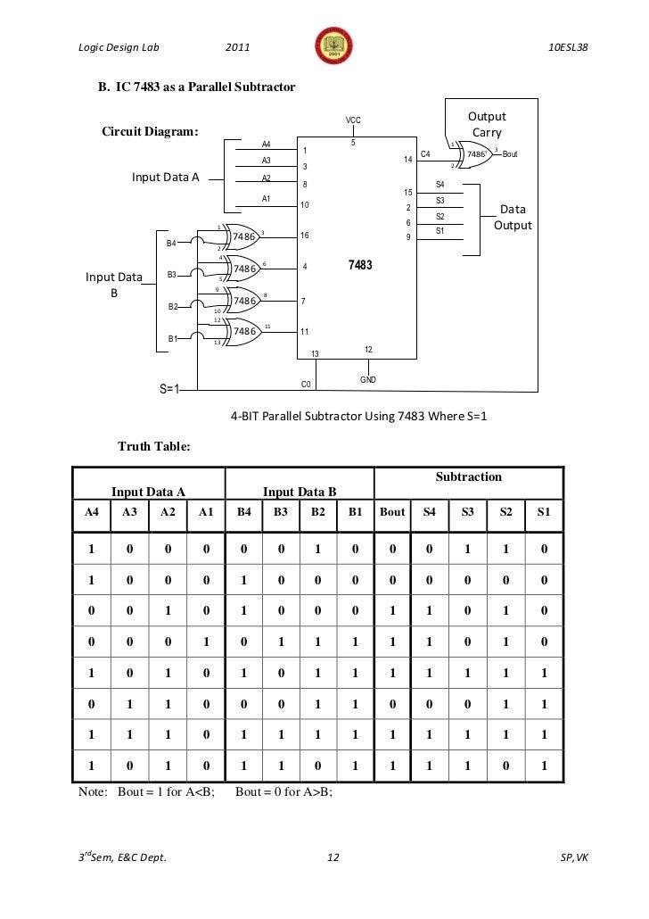 343logic design lab manual 10 esl38 3rd sem 2011 rh slideshare net circuit diagram of ic 7483 7400 IC