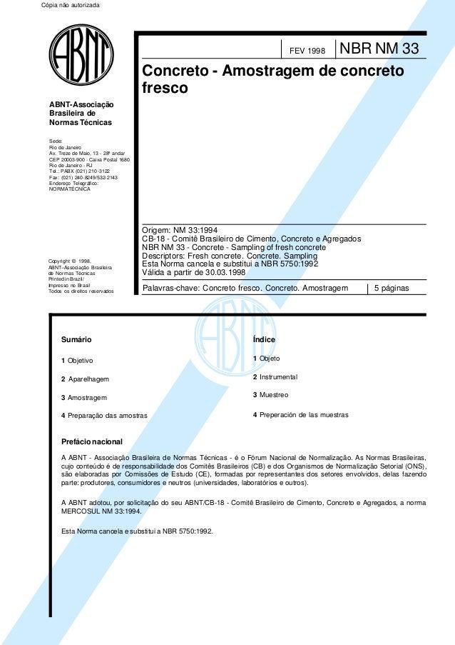 Copyright © 1998, ABNT–Associação Brasileira de Normas Técnicas Printed in Brazil/ Impresso no Brasil Todos os direitos re...