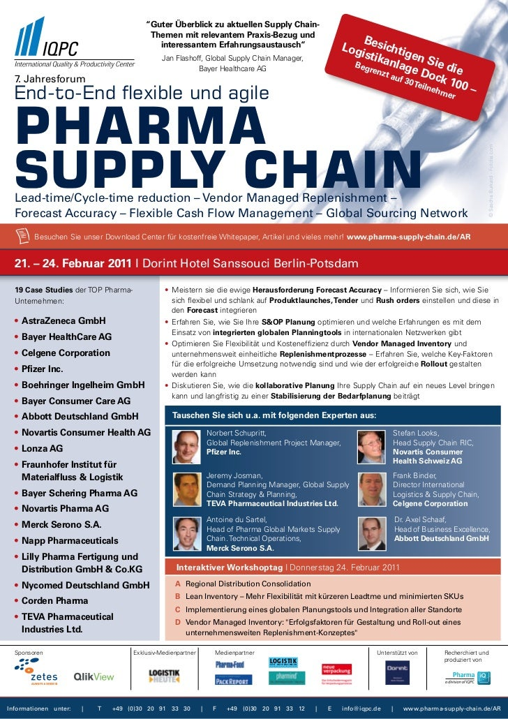 7. Jahresforum End-to-End flexible and agile Pharma Supply Chain 2011