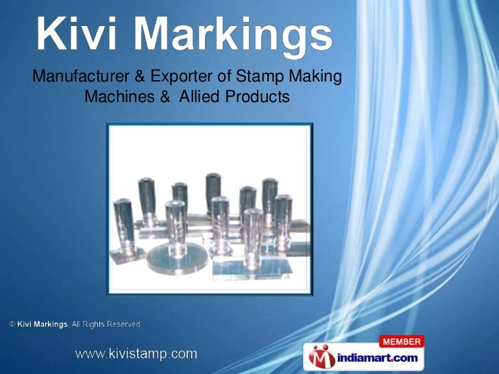Manufacturer & Exporter of Stamp Making      Machines & Allied Products