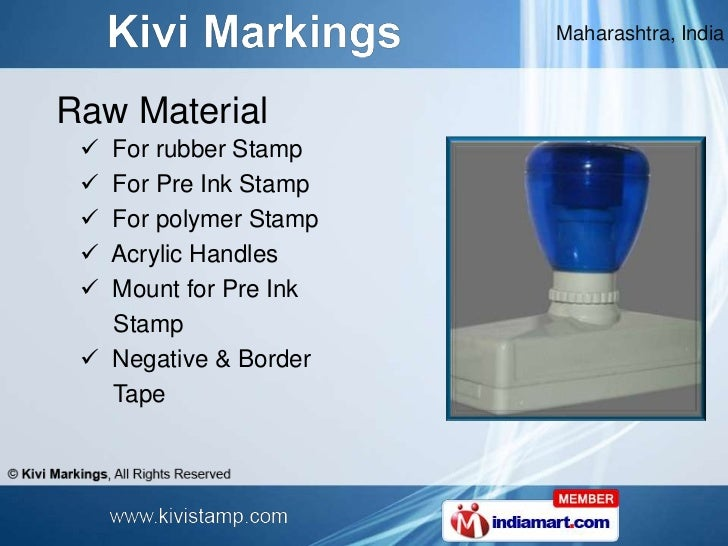 Maharashtra IndiaRubber Stamp Pen 9 IndiaRaw Material For Rubber