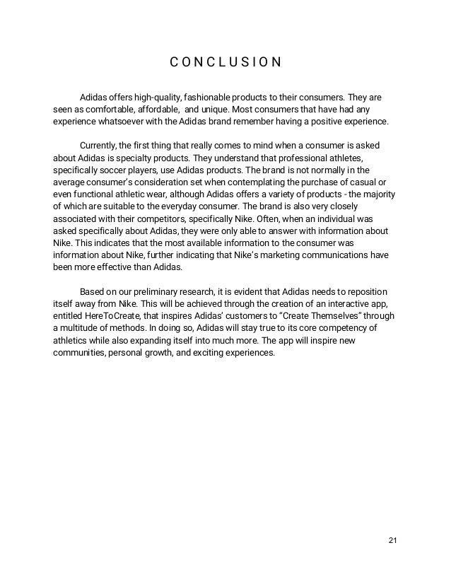 adidas analysis report