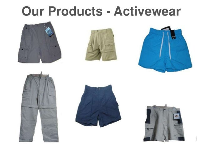 Our Products - Activewear