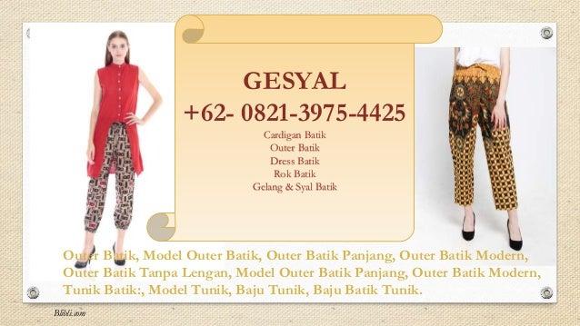 62821 3975 4425 Celana Batik Wanita Model Celana Kulot Batik Model