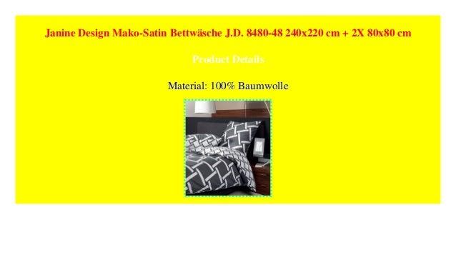 Janine Design Mako Satin Bettwäsche Jd 8480 48 240x220 Cm 2x 80x