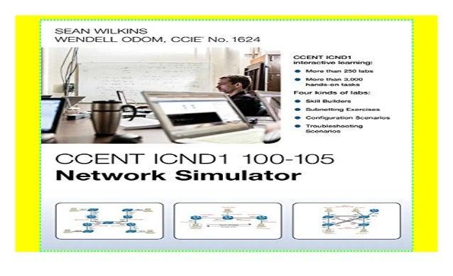 CCENT ICND1 100-105 Network Simulator paperback$