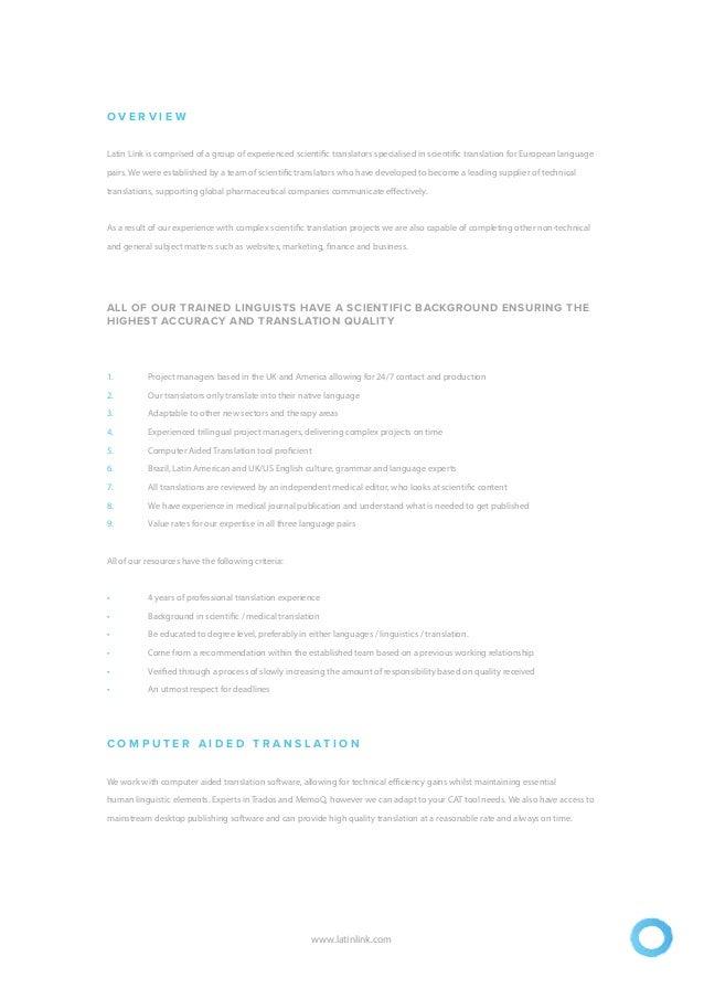 Latin Link Brochure - Scientific Slide 2