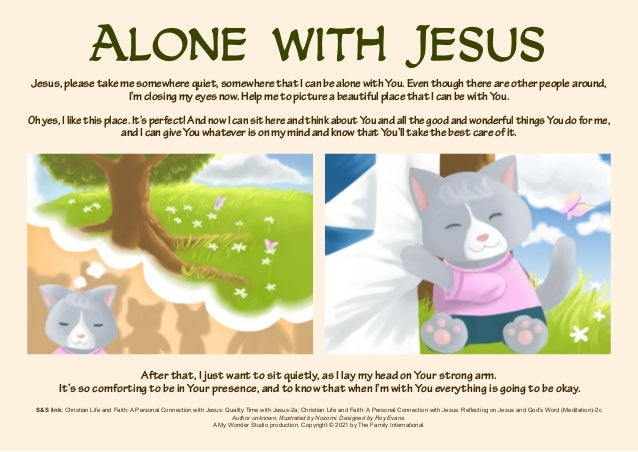 Alone with Jesus S&S link: Christian Life and Faith: A Personal Connection with Jesus: Quality Time with Jesus-2a; Christi...