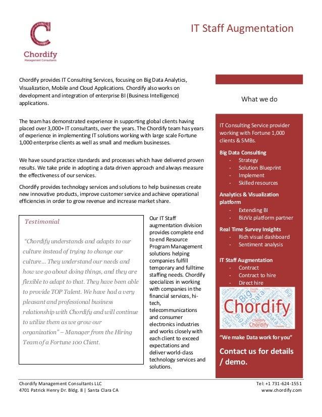 Chordify Management Consultants LLC Tel: +1 731-624-1551 4701 Patrick Henry Dr. Bldg. 8 | Santa Clara CA www.chordify.com ...