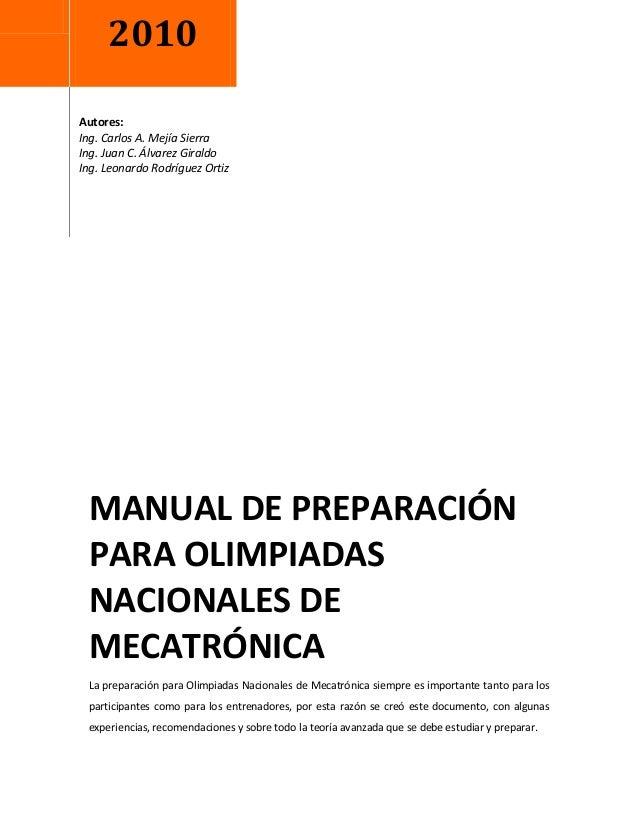 2010Autores:Ing. Carlos A. Mejía SierraIng. Juan C. Álvarez GiraldoIng. Leonardo Rodríguez Ortiz MANUAL DE PREPARACIÓN PAR...