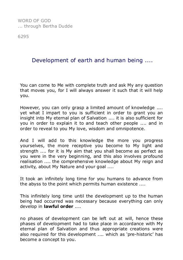 development of human being