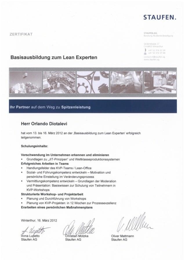 Staufen Zertifikat Ausbildung