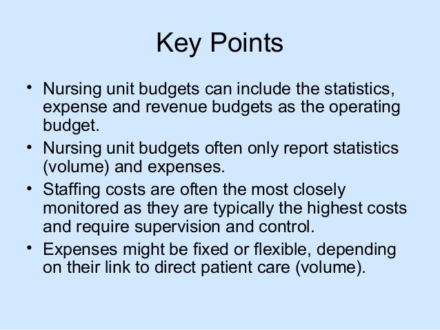 nursing budgeting Sample omb approval no 1121-0188 expires 5-98 (rev 1/97) budget detail worksheet purpose: the budget detail worksheet may be used as a guide to assist you in the preparation of.