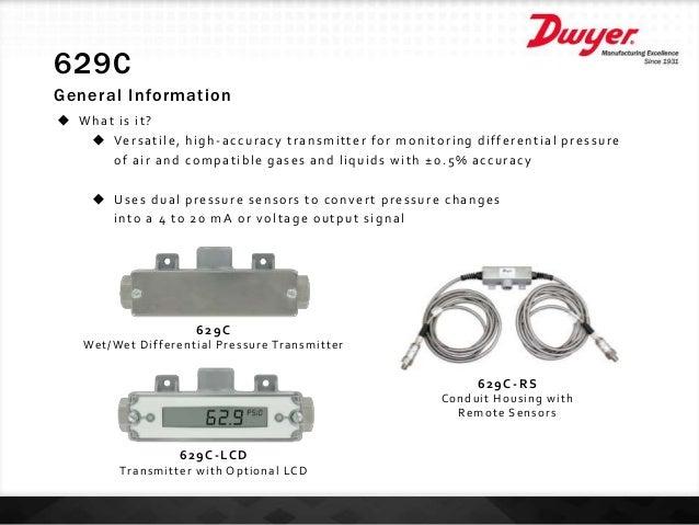 Dwyer 629C-12-CH-P2-E2-S3 629C Pressure Transmitter