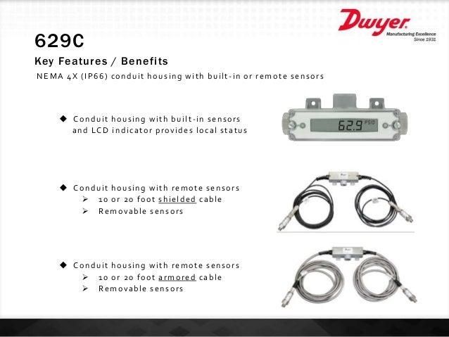 Dwyer 629C-05-CH-P2-E2-S1-LCD 629C Transmitter
