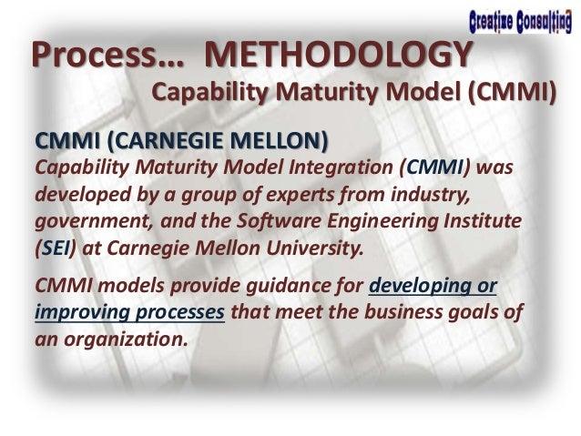 Process… METHODOLOGY Capability Maturity Model (CMMI) CMMI (CARNEGIE MELLON) Capability Maturity Model Integration (CMMI) ...