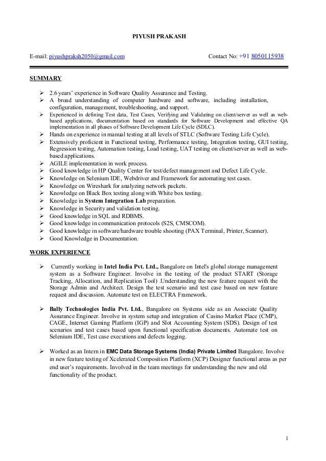Quality Assurance And Validation Engineer  Validation Engineer Resume