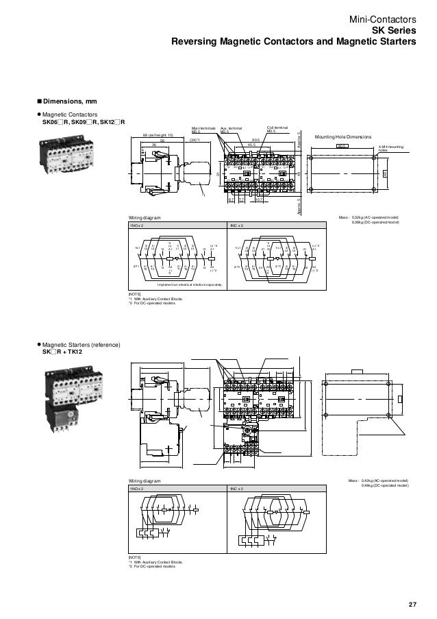 no nc contactor relay wiring diagram no wiring diagrams mini contactors and thermal overload relays sk series