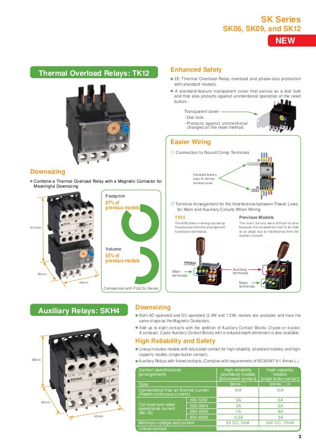 Mini-Contactors and Thermal Overload Relays - SK Series