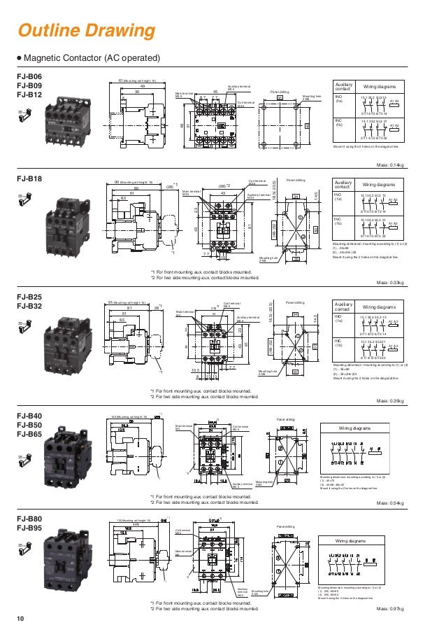 contactors and thermal overload relays fj series fuji electric 11 638?cb=1490949523 contactors and thermal overload relays fj series fuji electric fuji magnetic contactor wiring diagram at crackthecode.co