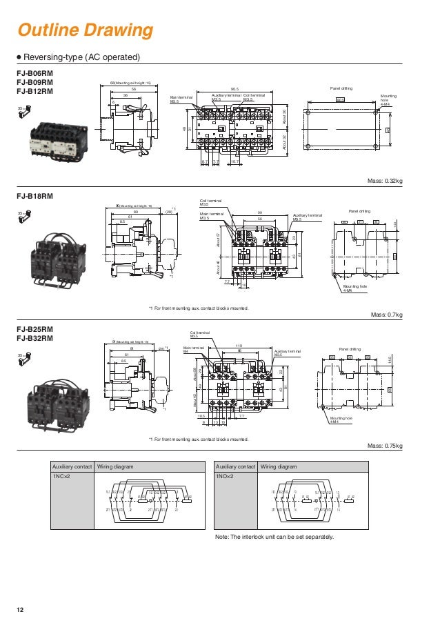 contactors and thermal overload relays fj series fuji electric Contactor Overload Relay Wiring Diagram Contactor Overload Relay Wiring Diagram #68 contactor and thermal overload relay wiring diagram
