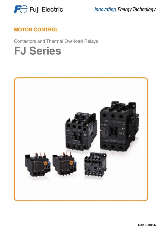 contactors and thermal overload relays fj series fuji electric Wiring a Contactor Up