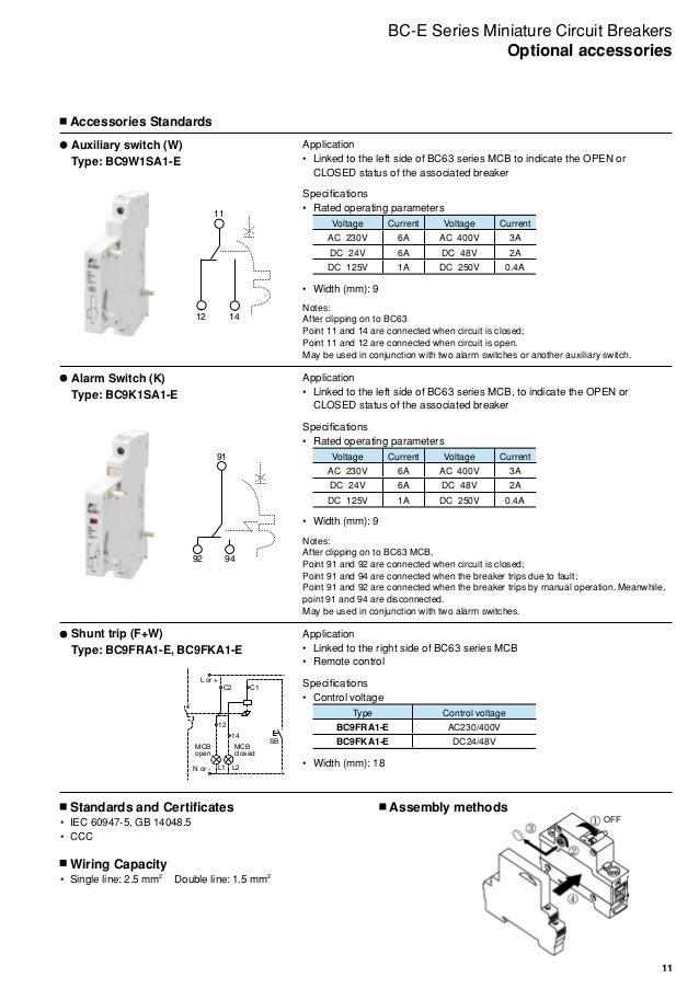Miniature Circuit Breakers BC-E Series - Fuji Electric