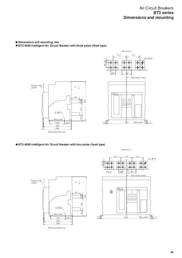 air circuit breakers bt3 series