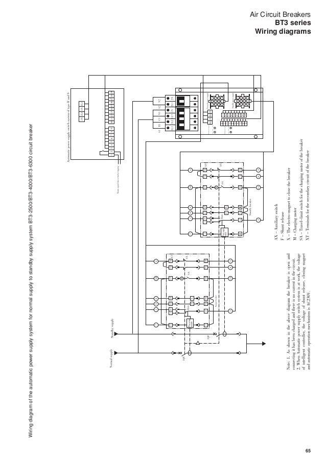 air circuit breakers bt3 series fuji electric Control Panel Wiring Diagram at Acb Control Wiring Diagram