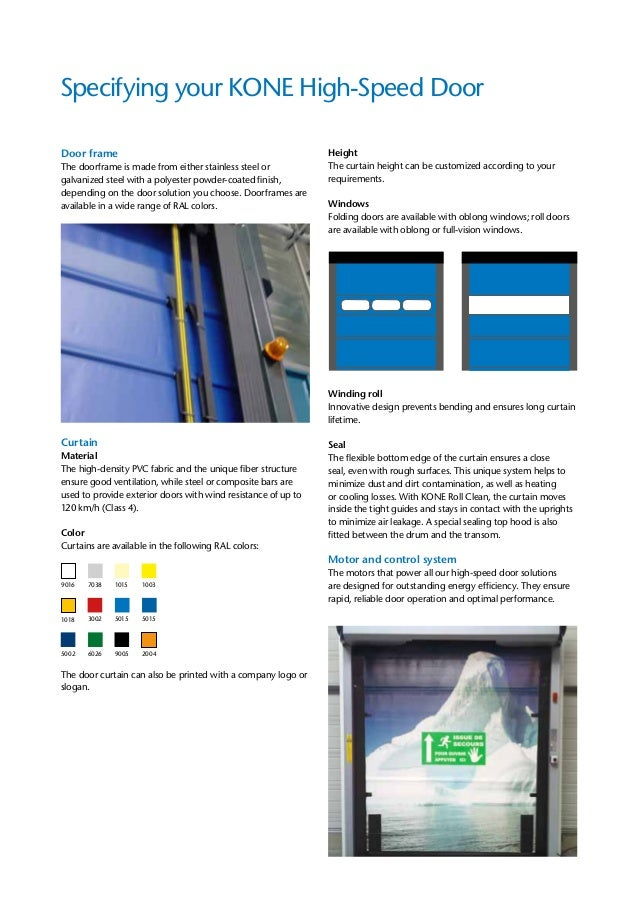 4. Specifying your KONE High-Speed Door ...  sc 1 st  SlideShare & KONE High Speed Doors pezcame.com