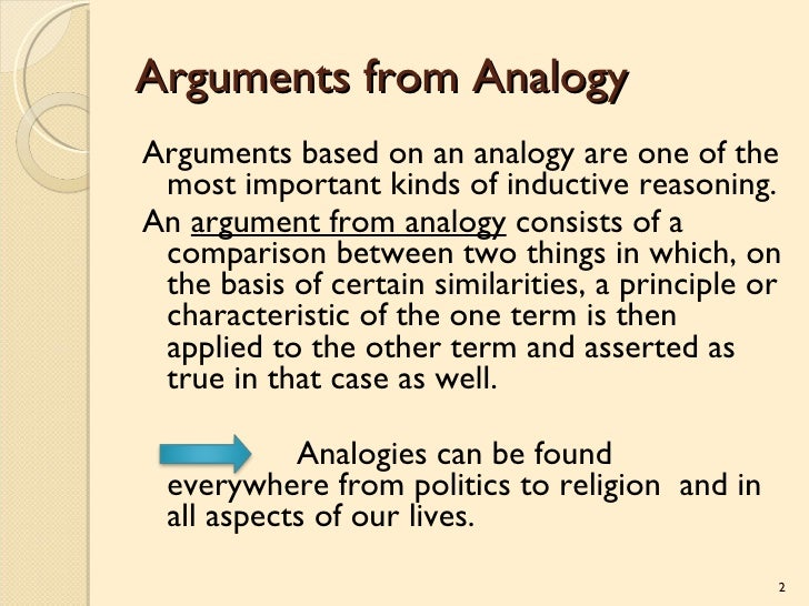 Inductive Argument By Analogy Examples Image Collections Example