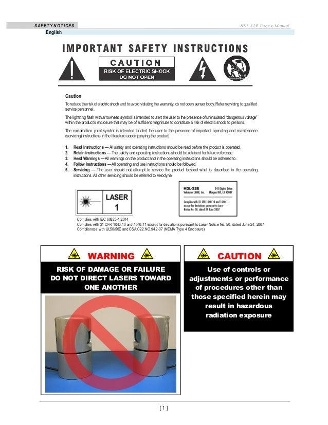 hdl 32e high definition lidar sensor rh slideshare net Ryobi Weed Eater Operations Manual Operations Manual Template