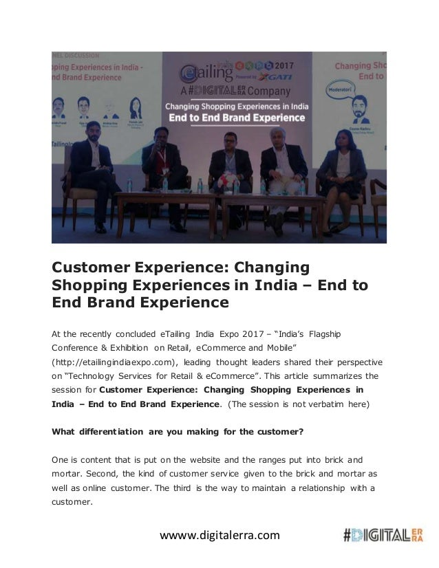 Customer Experience - Changing Shopping Experiences In ...