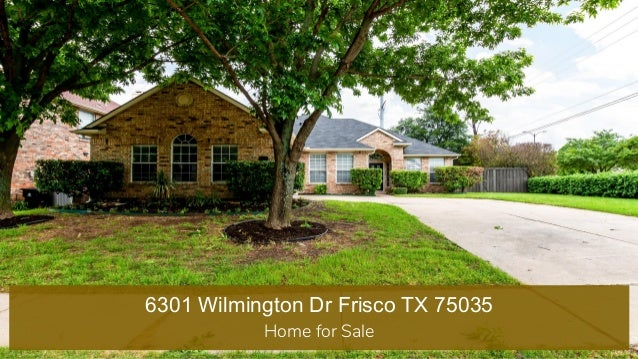 6301 Wilmington Dr Frisco TX 75035 Home for Sale