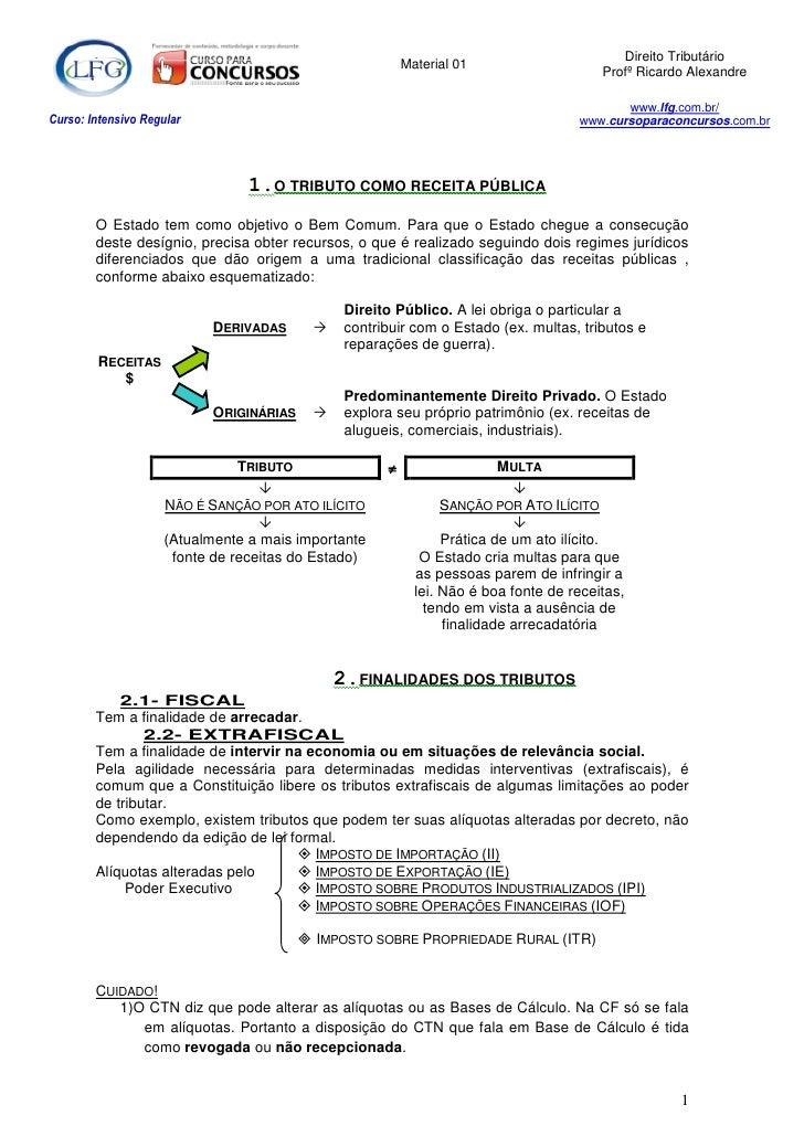 Direito Tributário                                                          Material 01                                   ...