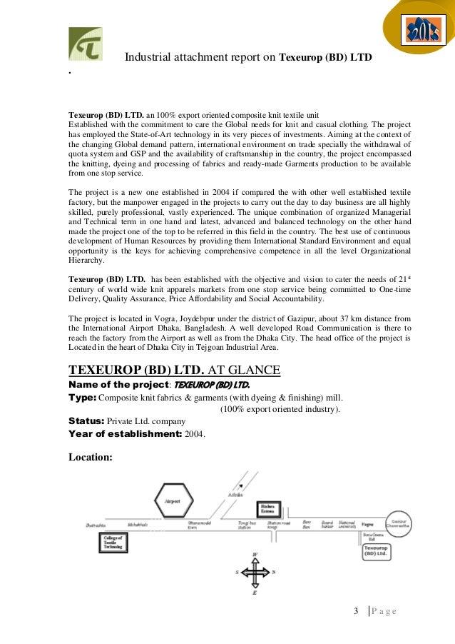 Internship report bd