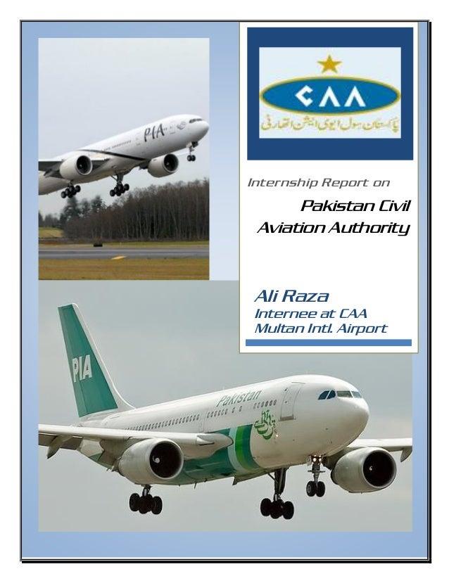 0[Date] Internship Report on Pakistan Civil Aviation Authority Ali Raza Internee at CAA Multan Intl. Airport