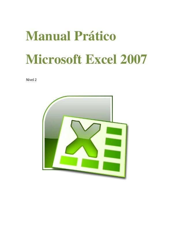 Manual Prático Microsoft Excel 2007 Nível 2