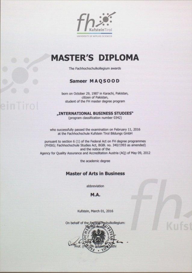 diploma master diploma