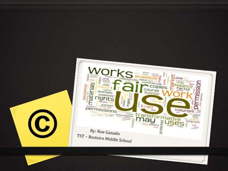 Fair                  UseOf Copyrighted Materials