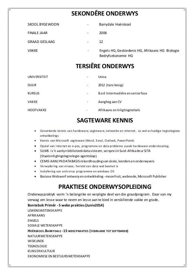curriculum vitae  afrikaans docx
