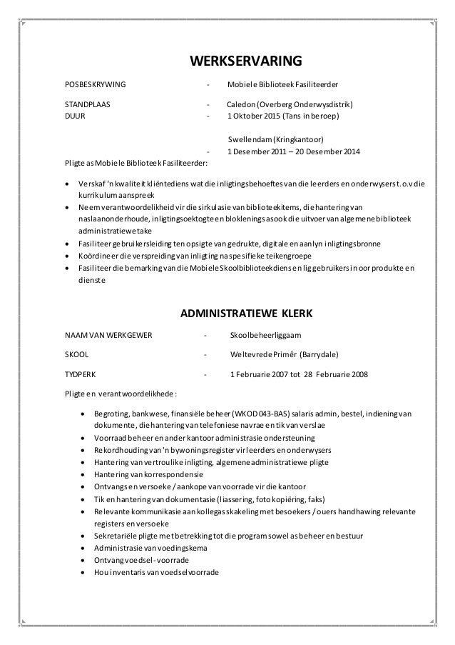 voorbeeld van cv in afrikaans examples of cv resume 27 sample template format curriculumvitae