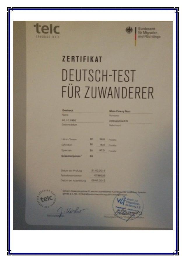 B1-Zertifikat