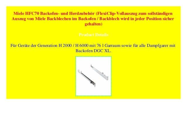 Miele HFC 70 FlexiClip-Vollauszug
