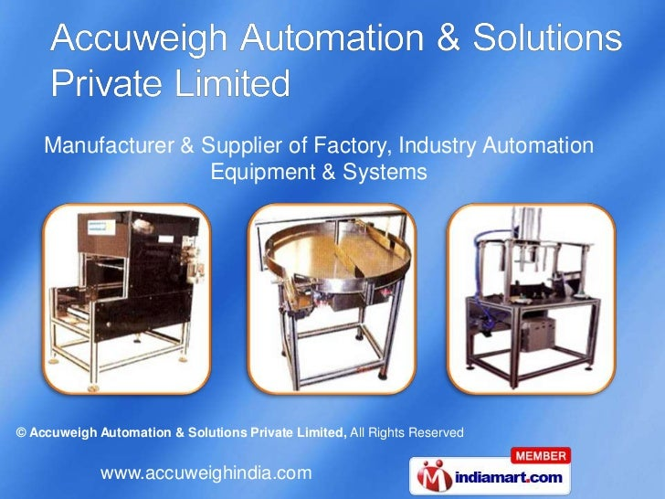 Manufacturer & Supplier of Factory, Industry Automation Equipment & Systems<br />