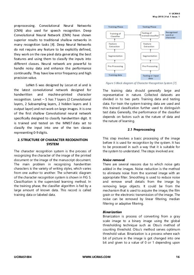 A SURVEY ON DEEP LEARNING METHOD USED FOR CHARACTER RECOGNITION Slide 3
