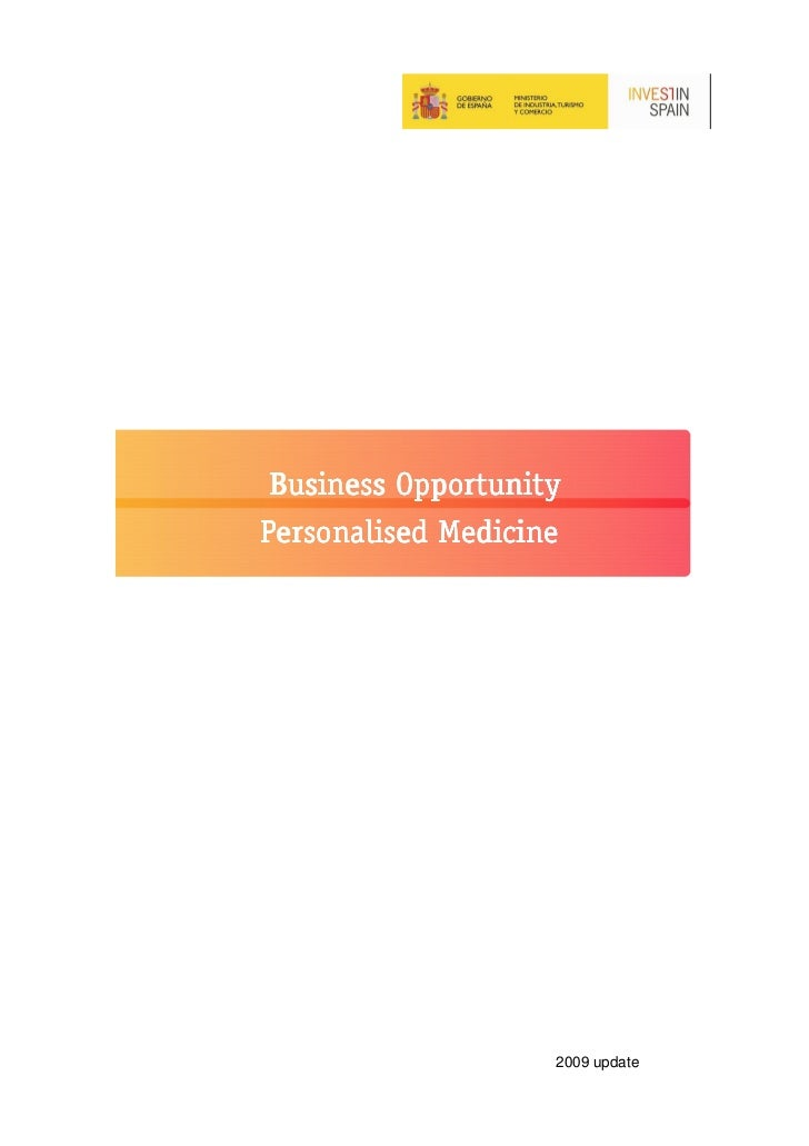 Business OpportunityPersonalised Medicine                    2009 update