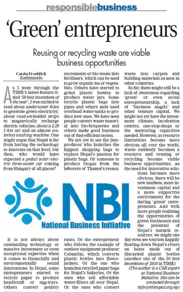 10-12-19 No 26 Green Entrepreneurs - NBI - THT - CF