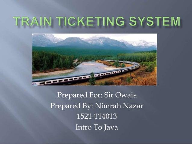 TRAIN TICKETING SYSTEM